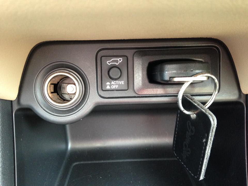 I love that the Mitsubishi Outlander GT has a place for your key. In case you forget to take it out when exiting, you will get an audible signal to take it out!