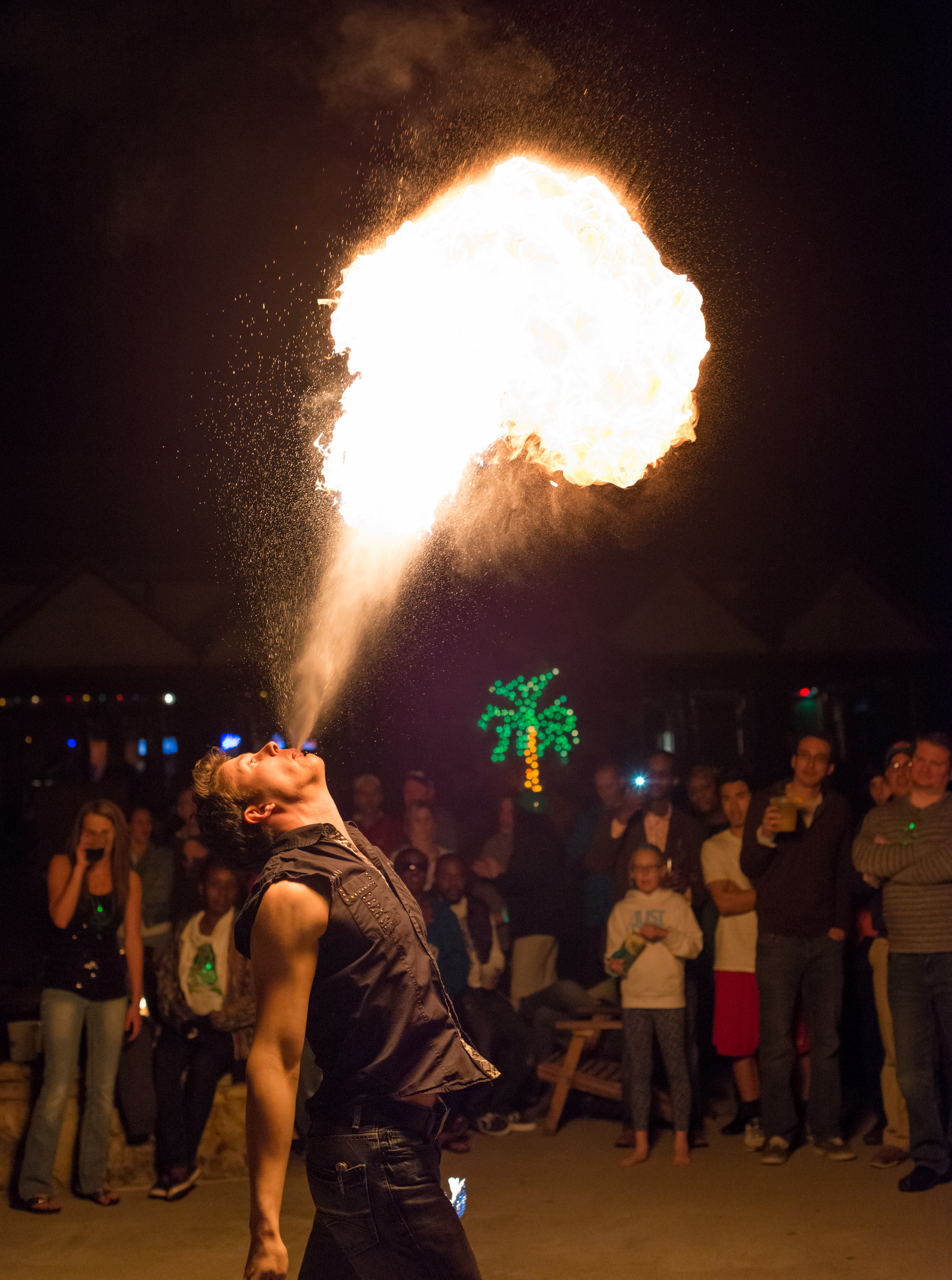 Firebreather Lights Up the Night at Lanier Islands Full Moon Party
