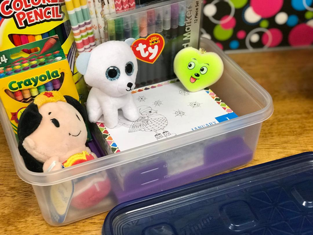 Naturally, I have got a wide variety of crafting supplies for my students to use all neatly tucked away in my classroom closet in Ziploc® brand containers and bags!