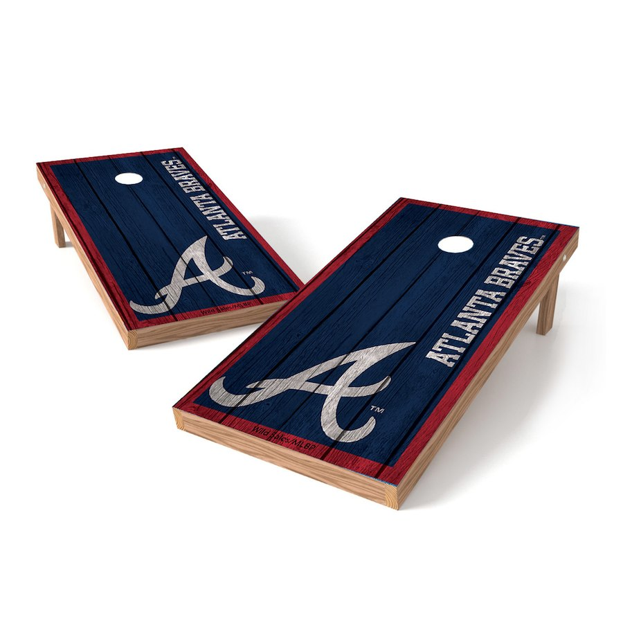 Atlanta Braves 2' x 4' Big Vintage Authentic Tailgate Toss Set