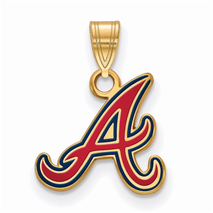 Women's Atlanta Braves Gold-Plated Enamel Pendant