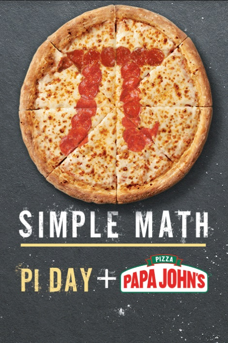 Papa Johns Pi Day
