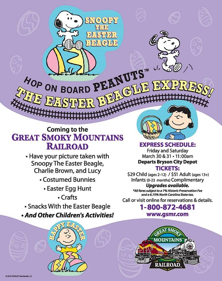 Great Smoky Mountain Railroad Easter Events